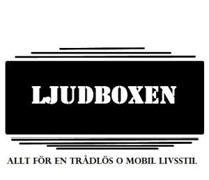 Logo för vår eShop, Ljudboxen